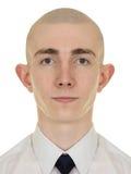 Retrato simétrico del hombre joven imágenes de archivo libres de regalías