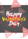 Retrato simple feliz de la tarjeta del día de tarjeta del día de San Valentín Fotografía de archivo