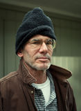 Retrato sin hogar del hombre Imagen de archivo libre de regalías