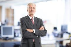 Retrato sênior do homem de negócios Imagem de Stock Royalty Free
