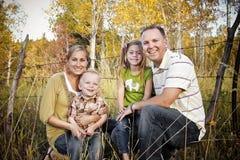 Retrato sonriente de la familia Foto de archivo