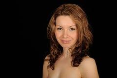 Retrato sonriente de la mujer Imágenes de archivo libres de regalías