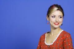 Retrato sonriente de la mujer joven Fotos de archivo libres de regalías
