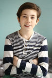 Retrato sonriente del muchacho del europeo del adolescente Imagen de archivo