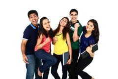 Retrato sonriente feliz del grupo indio/asiático joven Foto de archivo libre de regalías