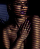 Retrato sugestivo de uma jovem mulher bonita Fotografia de Stock Royalty Free