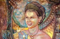 Retrato tailandés de la reina Foto de archivo
