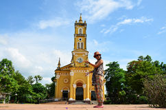 Retrato tailandês da mulher em Saint Joseph Catholic Church Imagens de Stock