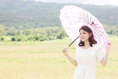 Retrato tailandês das mulheres exterior Fotos de Stock