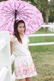 Retrato tailandês das mulheres exterior Fotos de Stock Royalty Free