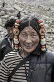 Retrato tibetano da mulher Fotografia de Stock Royalty Free