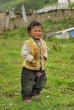 Retrato tibetano do miúdo Fotografia de Stock