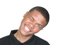 Retrato torpe del afroamericano Imagen de archivo libre de regalías