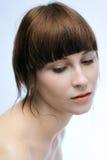 Retrato tranquilo de la muchacha Imagen de archivo libre de regalías