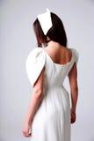 Retrato traseiro da vista de uma jovem mulher Foto de Stock Royalty Free