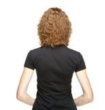 Retrato traseiro do veiw da mulher nova imagens de stock royalty free