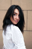 Retrato triguenho da mulher Imagem de Stock Royalty Free
