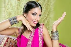 Retrato trigueno indio hermoso de la mujer Foto de archivo libre de regalías
