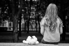 Retrato triste da menina. Foto de Stock