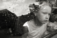 Retrato triste da menina Fotografia de Stock Royalty Free