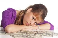 Retrato triste da mulher Imagem de Stock