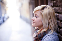 Retrato triste de la muchacha Fotos de archivo libres de regalías