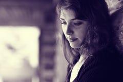 Retrato triste de la muchacha Foto de archivo