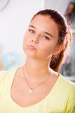 Retrato triste de la muchacha Imagen de archivo