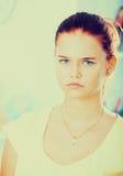 Retrato triste de la muchacha Imagen de archivo libre de regalías