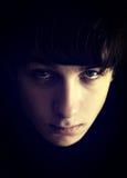 Retrato triste del adolescente Imagen de archivo