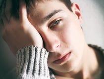 Retrato triste del adolescente Imagenes de archivo