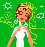 Retrato triste novo da menina Fotografia de Stock