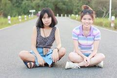 Retrato um par mulheres Fotografia de Stock Royalty Free