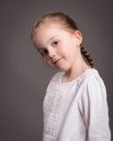 Retrato um pouco de da menina Fotografia de Stock Royalty Free