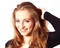 Retrato uma menina loura bonita imagem de stock