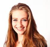 Retrato uma menina loura bonita fotografia de stock