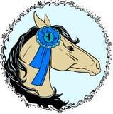 Retrato un caballo libre illustration