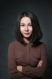 Retrato una muchacha asiática Fotografía de archivo