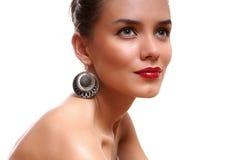 Retrato una señora joven atractiva Imágenes de archivo libres de regalías