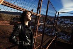 Retrato urbano da menina Foto de Stock Royalty Free