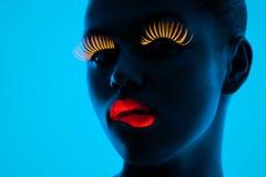 Retrato UV Imagem de Stock
