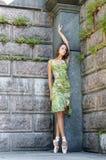 Retrato verde imagem de stock
