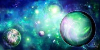 Retrato verde com espaço ilustração do vetor