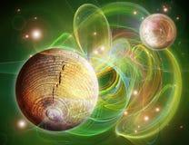 Retrato verde com espaço ilustração stock