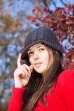 Retrato vermelho Foto de Stock Royalty Free