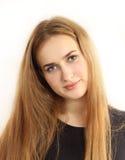 Retrato vertical de la chica joven agradable Imagenes de archivo