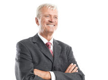 Retrato viejo del hombre de negocios Fotos de archivo