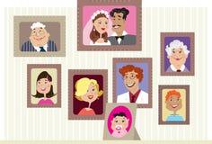 Retratos da família Imagem de Stock