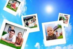 Retratos da família feliz imagens de stock