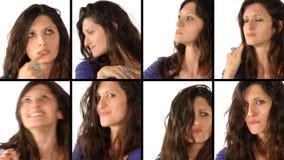 Retratos da jovem mulher video estoque